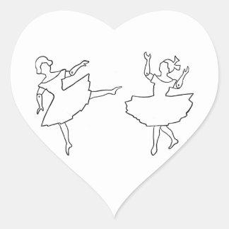 Illustration de coupe-circuit de danseurs sticker cœur