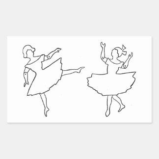 Illustration de coupe-circuit de danseurs sticker rectangulaire