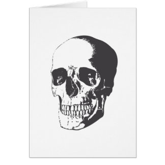 Illustration de crâne carte de vœux