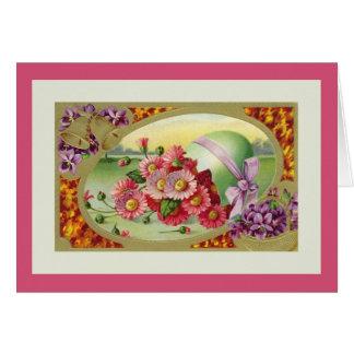 Illustration de cru de salutations de Pâques Carte De Vœux