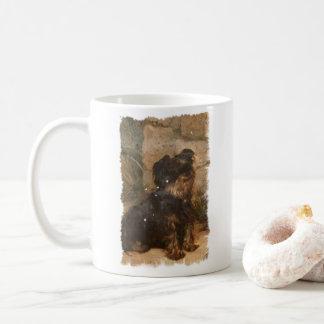 Illustration de cru de tasse de café de terrier de