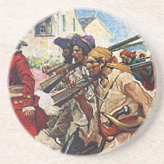 Illustration de marche de soldat anglais de dessous de verre