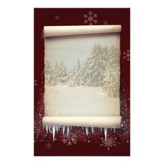 Illustration de parchemin d'hiver - papeterie