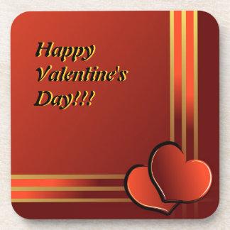 Illustration de Saint Valentin avec les coeurs et Sous-bock