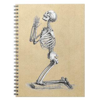 Illustration de squelette d'anatomie carnet à spirale
