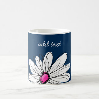 Illustration florale de marguerite à la mode - mug
