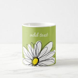 Illustration florale de marguerite à la mode - mug blanc