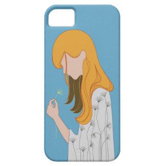 Illustration jaune de cheveux étui iPhone 5