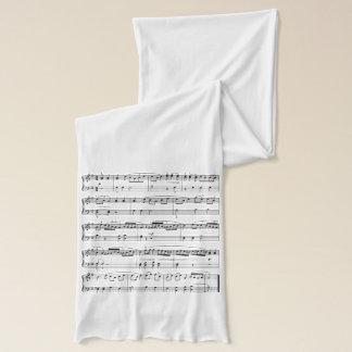 illustration musicale de mode écharpe