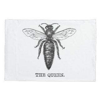 Illustration noire et blanche de reine des housse d'oreillers