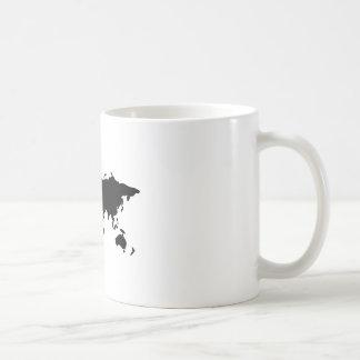 Illustration noire et blanche du monde mug