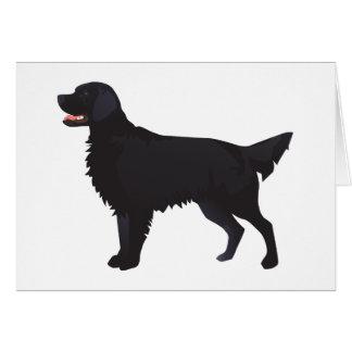 Illustration Plat-Enduite de race de chien de Carte