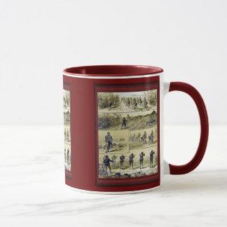 Illustration vintage - bataillon de bicyclette mug