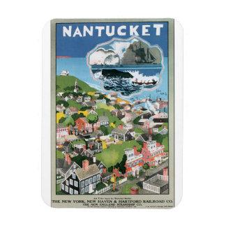Illustration vintage d'affiche de voyage de magnet flexible