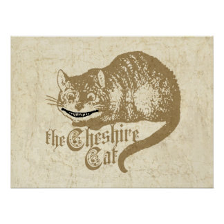 Illustration vintage de chat de Cheshire
