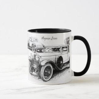Illustration vintage de voiture mug