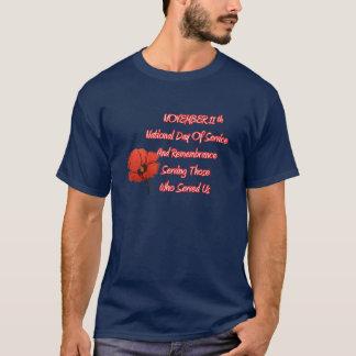 Ils nous ont servi le T-shirt de jour de vétérans