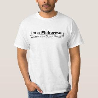 Im een Visser wat Uw Super Overhemd van de Macht T-shirts