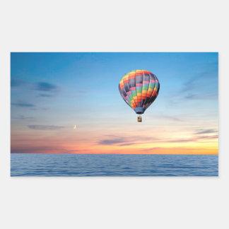 Image chaude de ballon à air pour des autocollants
