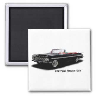 Image classique de voiture pour l'aimant de carré magnet carré