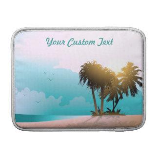 Image customisée de plage de la Floride Housse Macbook Air