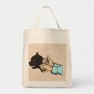 Image de chien créée avec l'art de main sur le sac