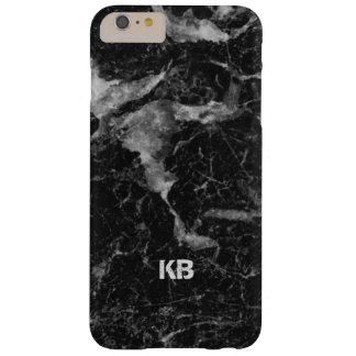 Image de texture de marbre noire et grise coque iPhone 6 plus barely there
