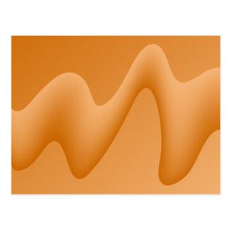 Image de vague d'abrégé sur orange carte postale