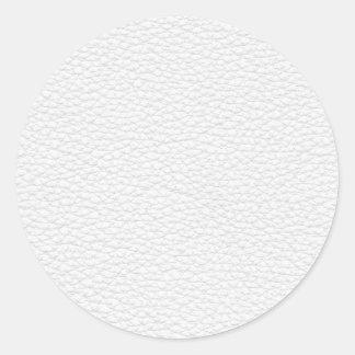 Image du cuir blanc sticker rond
