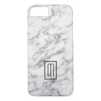 Image du monogramme de marbre blanc et gris de coque iPhone 7