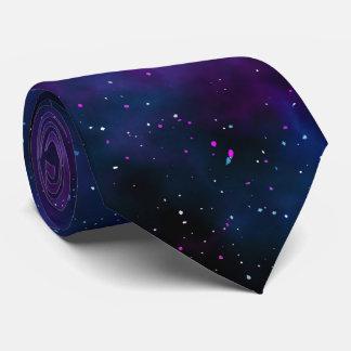 Image étoilée de belle nuit de galaxie de l'espace cravate