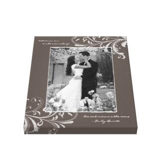Image florale blanche de modèle photo de portrait  toiles