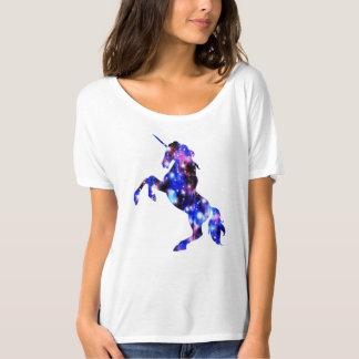 Image scintillante de belle licorne rose de t-shirt