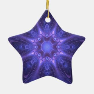 Imaginaire pourpre ornement étoile en céramique