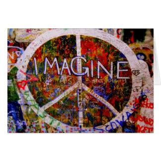 Imaginez la carte de vacances de paix
