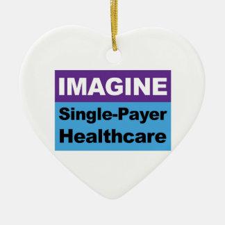Imaginez les soins de santé simples de débiteur ornement cœur en céramique