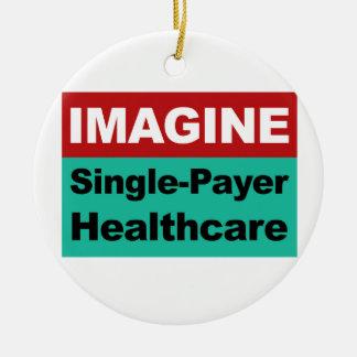 Imaginez les soins de santé simples de débiteur ornement rond en céramique