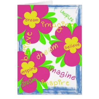 Imaginez, rêvez, croyez, carte d'encouragement