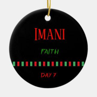 Imani - ornement du jour 7 % pipe% de Kwanzaa