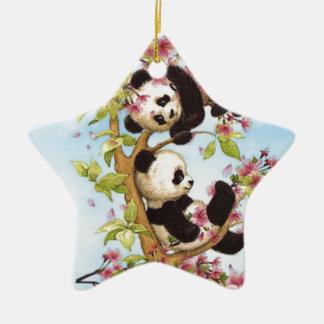 IMG_7386.PNG mignon et panda coloré conçu Ornement Étoile En Céramique
