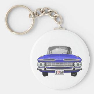 Impala 1959 de Chevy Porte-clé Rond