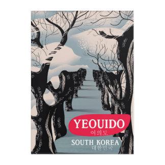 Impression En Acrylique Affiche de voyage de Yeouido Corée du Sud