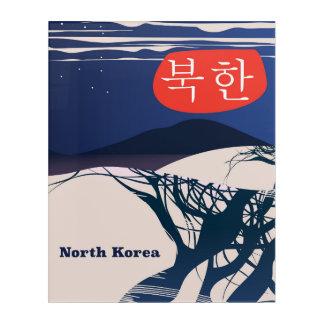 Impression En Acrylique Affiche vintage coréenne du nord de voyage