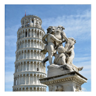 Impression En Acrylique Statue de Putti de dei de Fontana de tour penchée