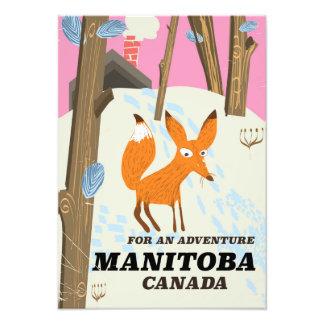 Impression Photo Affiche vintage de voyage de style de Manitoba