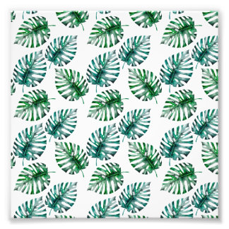 Impression Photo Aloha motif tropical de feuille de Monstera