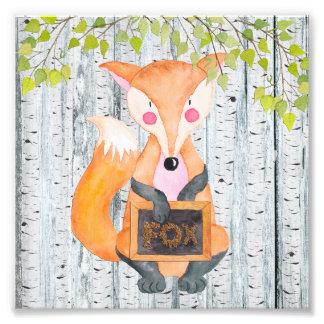 Impression Photo Amis de la région boisée Fox - illustration