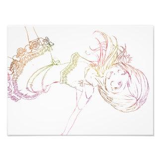 Impression Photo Anime coloré Popstar cultivé - arrière - plan