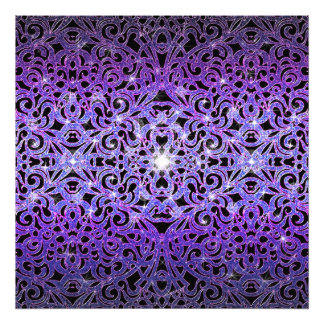Impression Photo Arrière - plan abstrait floral d'impression de