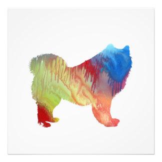 Impression Photo Art coloré de chien